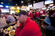 Jim Frame couldn't believe a call against Louisville during their game with Villanova last week. Frame and Jennifer Caulk watched the action at the BWW in the Shelbyville Road Plaza location.