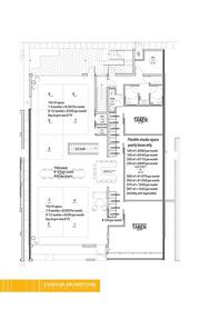 The floor plan for the Creative Center of Scottsdale.