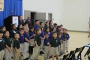 Several of the school's students were at the event.