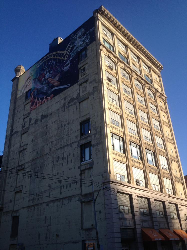The ten-story Pennrose building in the Strip District.