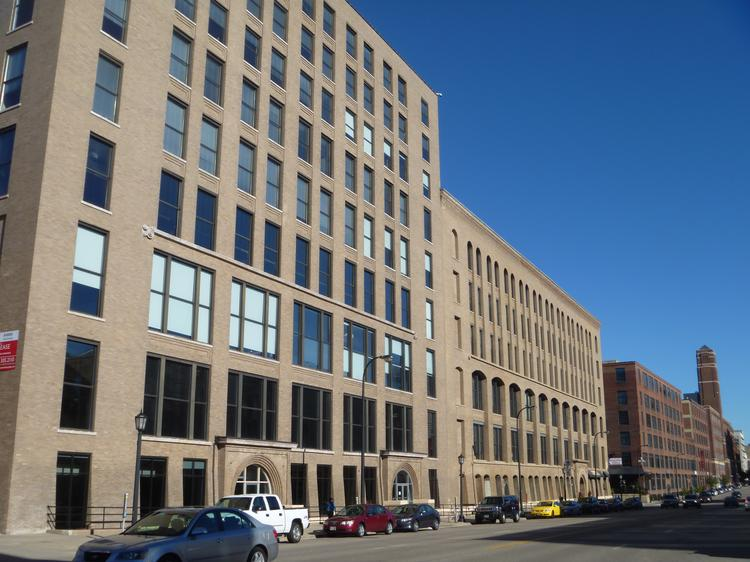 Goldman Sachs Tuesday paid about $55 million for the TractorWorks building on Washington Avenue in the North Loop district of Minneapolis.