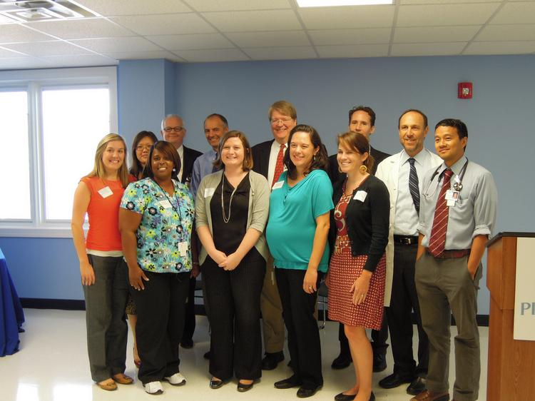 Some of the team members at UNC Family Medicine, which handles more than 100,000 visits a year.