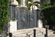 Front steps of the former Versace Mansion on South Beach, where designer Gianni Versace was shot to death.