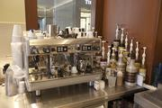 The espresso machine will go into use this weekend when the cafe opens at Booksellers on Fountain Square.