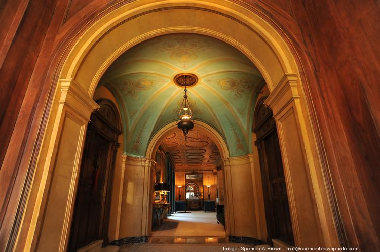 The lobby at 1100 Sacramento St., which will be the largest rental building to convert to a TIC in San Francisco history.