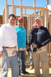 Executives hard at work at the 2013 Habitat for Humanity CEO Build in Raleigh