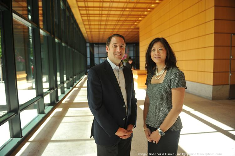 Jeremy Geller and Christine Leong, Bay Area managing directors in the private bank of J.P. Morgan Chase.
