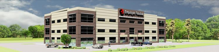 Employer Flexible will move into a build-to-suit office structure next year that will serve as the company's new corporate headquarters.