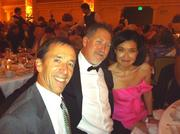 From left, Seattle Symphony supporters Dr. Robert Kitchell, Duane Baker and Betty Tong enjoy gala dinner at the Fairmont Olympic Hotel Sept. 15 after Lang Lang's performance at the symphony's opening night.