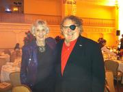 Symphony patrons Virginia Wright, left, and Dale Chihuly attend gala event at Fairmont Olympic Hotel in Seattle following opening night performance of the Seattle Symphony.