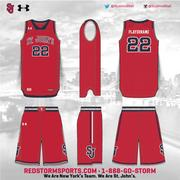 A rendering of a new St. John's basketball uniform under a new partnership with Under Armour.