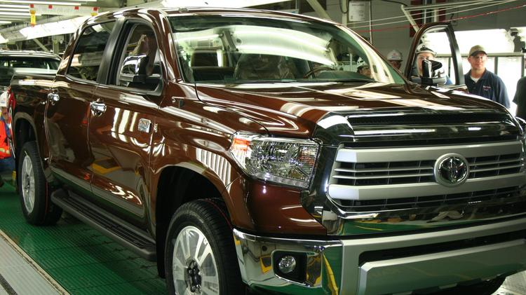 File photo of Toyota's 1794 Edition Tundra. This was the millionth truck built by Toyota workers in San Antonio. The Texas Manufacturing Outlook Survey shows that factory activity is strong across the state.
