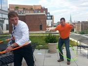 No. 9 (tie: Companies 500-1,499): A committee at Baker, Donelson, Bearman, Caldwell & Berkowitz PC organizes activities each month that encourage employees to get moving. In August, the company had a hula hoop showdown, jump roping and ladder golf games.