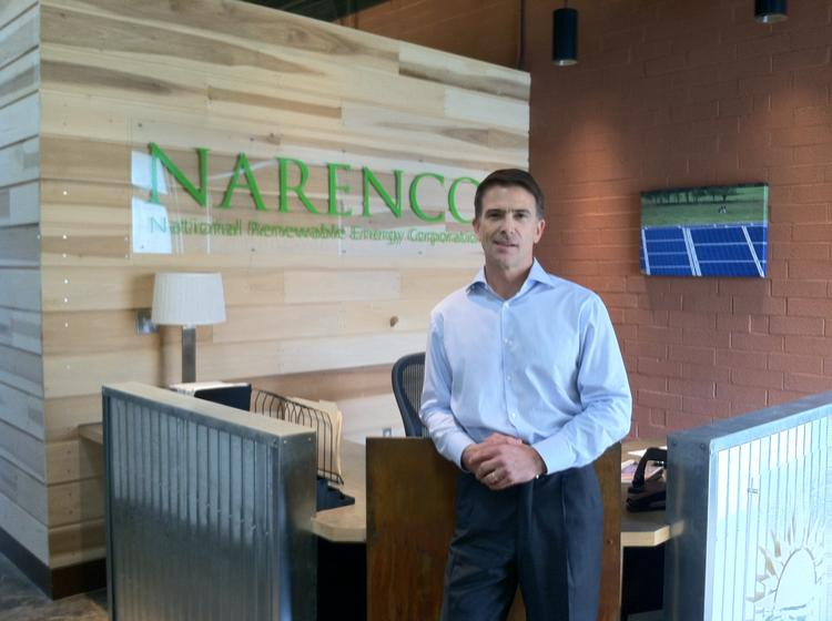 NARENCO President Dennis Richter says construction of five five-megawatt projects over the next several months will move his company to a new level in the state's solar industry.