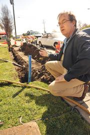 """Winner, Infrastructure or Public-Private Partnership: """"It's orders of magnitude faster,"""" says Jim Morrison of Lit San Leandro's fiber cable."""
