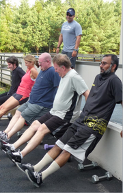 No. 5 (Companies 1,500-4,999): Orbital Sciences Corp. in Dulles holds a cardio strength fitness class for employees.