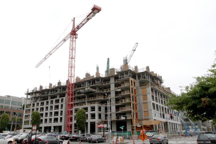 Insignia in downtown Seattle is the only major condo project under construction in the region, though one real estate company thinks more multifamily residences may be for sale later this year as apartment developers convert rentals to condos.