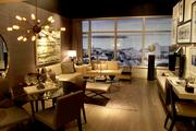Mitchell Freedland is the interior designer for Insignia; Perkins & Co. is the project architect. This photo of one room in a condo model was taken in the sales center in the Denny Building, 2200 Sixth Ave., Seattle.