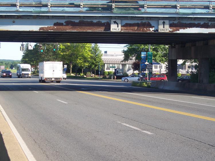 The Northway bridge over Albany-Shaker Road in Colonie, NY has been in disrepair for several years.