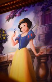 Snow White's portrait hangs in the Royal Gallery at Princess Fairytale Hall.