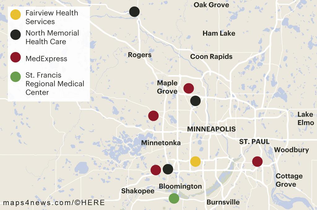 Check The Above Map Showing Urgent Care Clinics That Have Opened In The  Metro Area Over The Past Year.