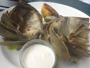 Grilled artichoke with lobster sauceat Del Frisco's Grille.