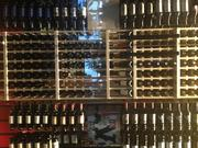 The restaurant also features many wine walls.