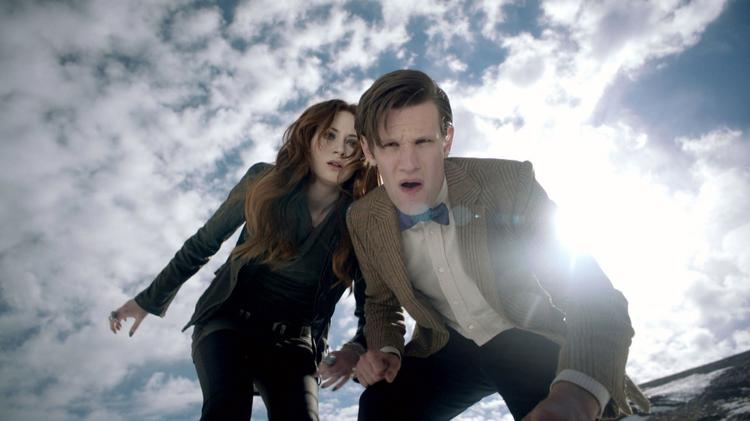 "Karen Gillan and Matt Smith get a chilly reception on a hostile wintry planet in BBC America's ""Dr. Who."" The British science-fiction show will be available on Hulu Plus."