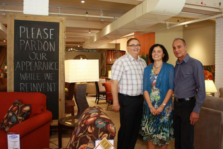 Sal DiSiena (left), Carol Zappone and Mike Zappone, owners of DiSiena Furniture in Mechanicville, NY