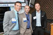 Patrick Ayling (left) with Brian Wiggins and Mike Zirbser at the Philadelphia Business Journal's Best Places to Work event at the Wells Fargo Center.