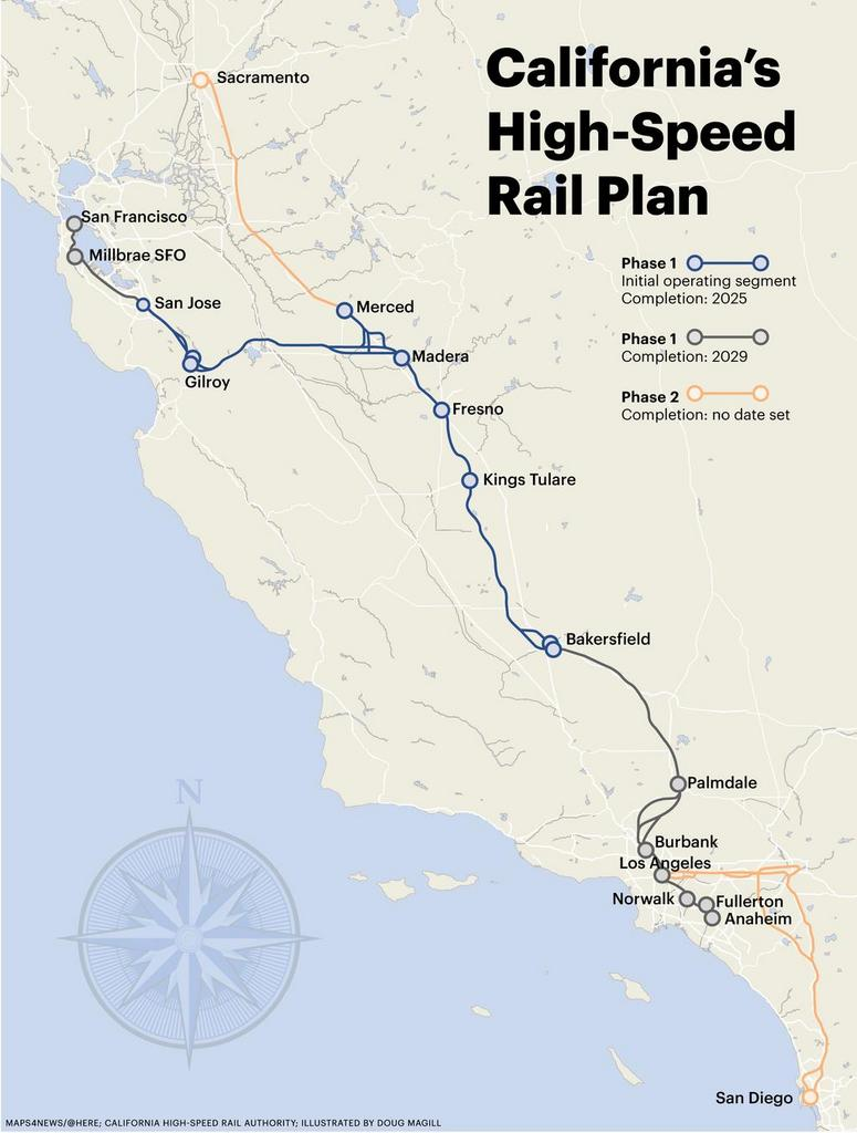 california high speed rail start date Public opposition and a projected completion date 13 years behind schedule, california gov jerry the california high speed rail authority.