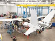 A small team of workers at Cessna's plant on East Pawnee Street worked on the Scorpion, a clean-sheet military plane designed for a wide variety of possible missions.