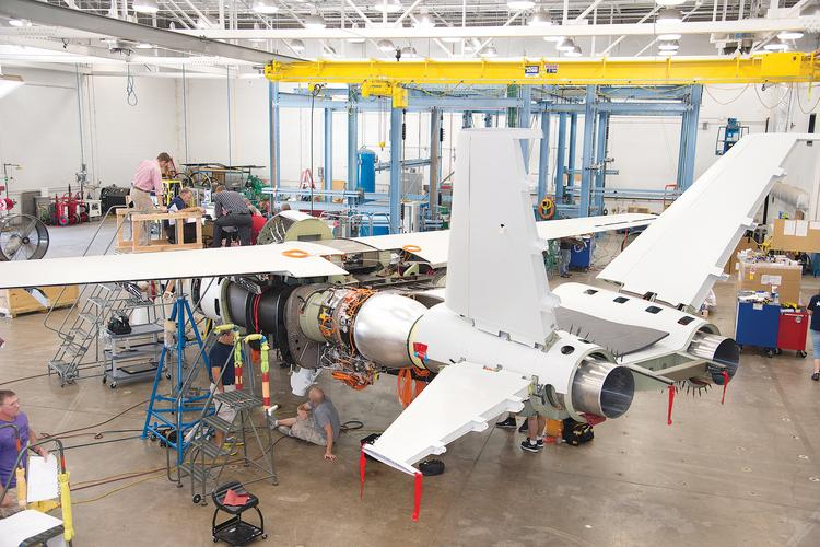 Development of the Scorpion took place at Cessna Aircraft Co.'s plant on East Pawnee in Wichita.
