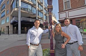 Bobby, Christine and John Mallozzi at the site of Johnny's restaurant in Schenectady, NY, in August 2012.