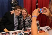 "Nancy Branisel poses with actor Richard Kiel, who has appeared in a number of productions, including ""The Spy Who Loved Me"" and ""Happy Gilmore."" This year's Comic Expo was the biggest yet."