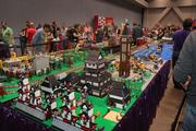 A town model built out of Legos was one of the features at the event.