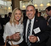 Chelsea Smith of L3 Communications with Mitch Levine of QTS.