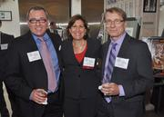 John Brant, finalist Judith Haddad of Patriot National Insurance Group with Chuck Ruzicka of Centric Consulting.