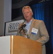 Larry O'Keefe of Ultimate Software, one of the sponsors.