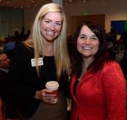 Catherine Jennings with Gas South and Amy Suiter with Deloitte.