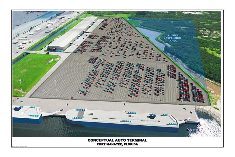 Proposed auto distribution facility at Port Manatee