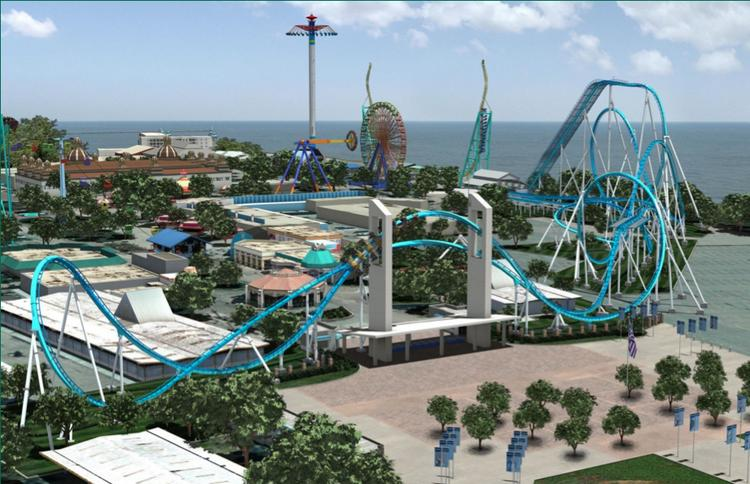 This image showing a roller coaster at Cedar Point served as an example of the kind of attraction that would be brought to Carowinds as part of a $43.5 million expansion.