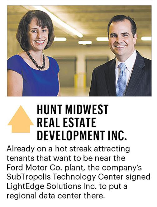 Ora Reynolds and Mike Bell of Hunt Midwest Real Estate Development