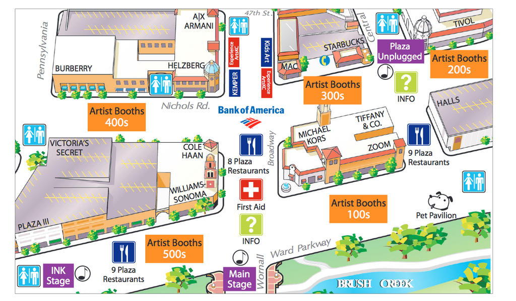 Map Of The Plaza Art Fair