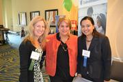 From left, Janet McNichol, human resources director at American Speech-Language-Hearing Association; with Eugenia Perna and Anjali Sharma, both field account managers at UnitedHealthcare in Reston.
