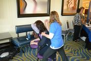 Blue Heron Wellness provided free massages to attendees during the morning breakout sessions and expo.