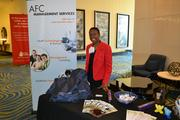 Latoya Morton of Aerobodies/AFC gave out healthy snacks and wrist wands for attendees.