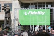 Fidelity officials and local dignataries at the company's opening celebration Sept. 19.
