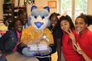 Nashville Predators Mascot Gnash with Boys & Girls Clubs of Middle Tennessee