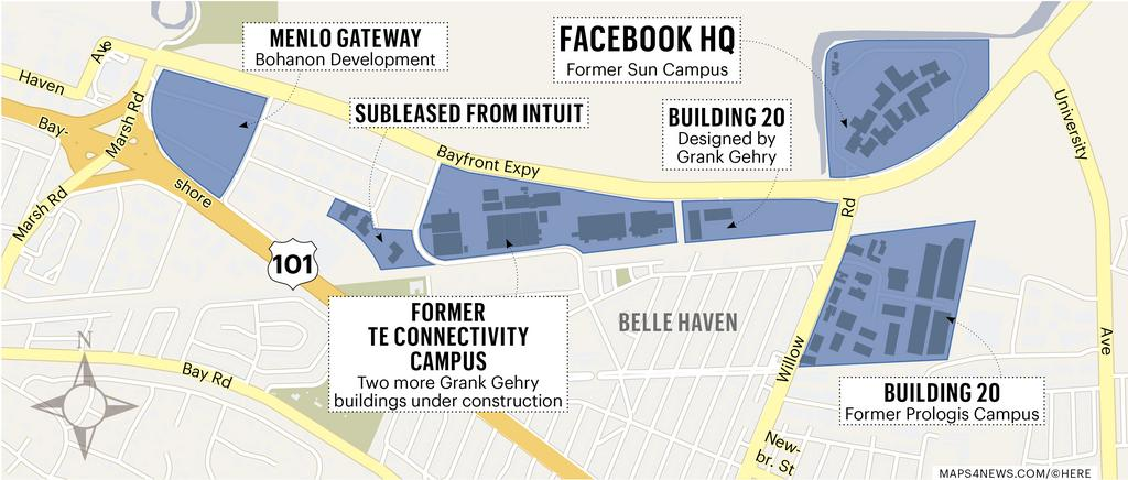 As Facebook Inc. (FB) unveils proposal for mixed-use Willow ... on facebook headquarters campus, facebook looks like map, daytona state college map, facebook corporate locations map, facebook map circa 2013, facebook campus menlo park, facebook football map, facebook frank gehry building, facebook home, facebook connection map, facebook search,